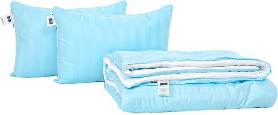 Акция на Набор антиаллергенный MirSon Eco Silk Лето Valentino Hand Made №4091 одеяло 200х220 + 2 подушки 50х70 средние (2200001812819) от Rozetka