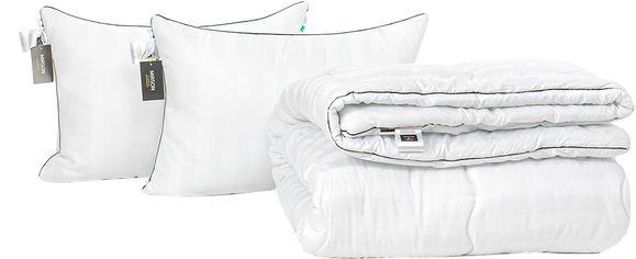 Акция на Набор антиаллергенный MirSon Eco Silk Зима Royal Pearl Hand Made №4121 одеяло 200х220 + 2 подушки 50х70 средние (2200001817548) от Rozetka