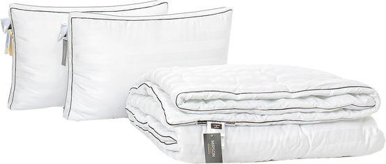 Акция на Набор антиаллергенный MirSon Eco Silk Деми Royal Pearl Hand Made №4124 одеяло 220х240 + 2 подушки 50х70 трехкамерные упругие (2200001816077) от Rozetka