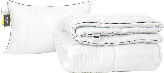 Акция на Набор антиаллергенный MirSon Eco Silk Зима Royal Pearl Hand Made №4066 одеяло 155х215 + подушка 50х70 мягкая (2200001818965) от Rozetka