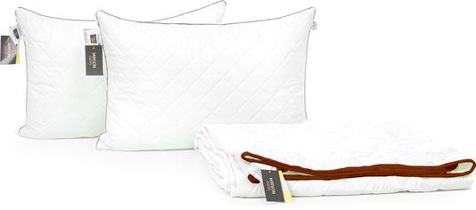 "Акция на Набор с шерстяным волокном Mirson Eco Лето ""Silver"" №3668 одеяло 200x220 см + 2 подушки 50х70 см средние (2200002353342) от Rozetka"