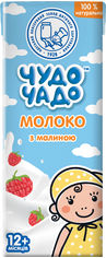 Акция на Упаковка молочного коктейля Чудо-Чадо Молоко с малиной 0.2 л х 18 шт (4820016253995) от Rozetka