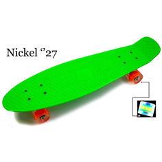 """Акция на Penny Board Nickel 27"""".Green. Светящиеся колеса от Allo UA"""