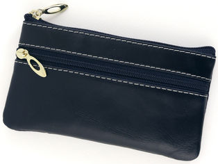 Акция на Кошелек-ключница кожаный TRAUM 7205-28 Темно-синий (4820007205286) от Rozetka
