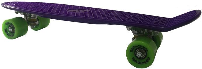 Акция на Пенни борд GO Travel 56 см Фиолетовый с зелеными колесами (LS-P2206PGS) (225454115623) от Rozetka