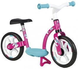 Акция на Беговел детский Smoby Toys металлический с подножкой розовый (770123) (3032167701237) от Rozetka