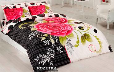 Акция на Комплект постельного белья Majoli Ранфорс Carmen 200х220 Разноцветный (01007854) от Rozetka