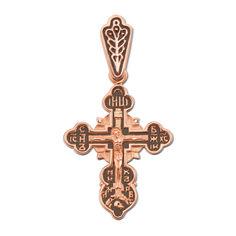 Акция на Крестик из красного золота с чернением 000134159 от Zlato