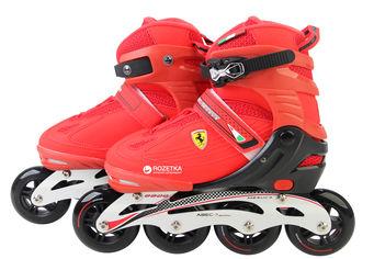 Роликовые коньки Ferrari размер 39-42 Красный (6947045655175) от Rozetka