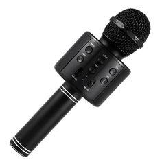 Акция на Беспроводной микрофон для караоке Wster WS-858 Черный (13340-4) от Allo UA