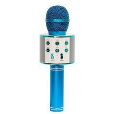 Акция на Беспроводной микрофон для караоке Wster WS-858 Голубой от Allo UA