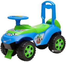 Акция на Автомобиль-каталка Active Baby музыкальный Голубо-зеленый (013117-0206М) от Rozetka