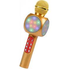Акция на Микрофон DM Караоке Wster WS-1816 Original Золотой от Allo UA