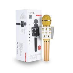 Акция на Беспроводной караоке микрофон Wster WS1688 Золото от Allo UA