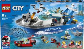 Акция на Конструктор LEGO City Police Полицейская патрульная лодка 276 деталей (60277) от Rozetka
