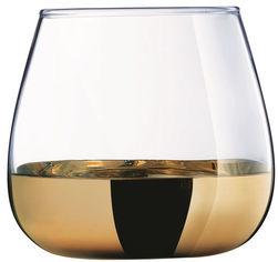 Акция на Набор стаканов Luminarc Сир де Коньяк Электрическое Золото 4 х 300 мл (P9303/1) от Rozetka