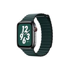Акция на Ремешок Coteetci W7 Leather Magnet Band For Apple Watch 42mm/44mm Green (WH5206-GR) от Allo UA