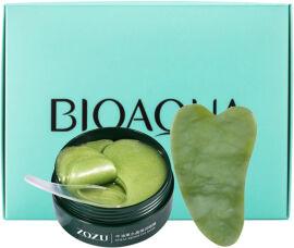Акция на Набор BioAqua Гидрогелевые патчи для глаз Zozu Shea Crystal Repair Eye Mask с экстрактом авокадо и аллантоином + Нефритовый массажёр-скребок для лица Гуаша (2000000237916) от Rozetka