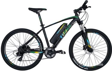 Акция на Электровелосипед TRINX E-Bike X1E 17 Matt-Black-Green-Blue (X1EMBGB) от Rozetka