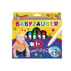 Акция на Фломастеры MALINOS Babyzauber на водной основе для малышей 10 шт от Allo UA