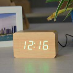 Акция на Электронные настольные часы VST 863-5 Коричневый от Allo UA