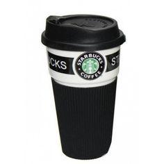 Акция на Термокружка керамическая UTM с крышкой Starbucks Black от Allo UA