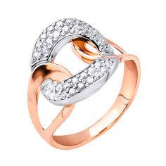 Акция на Золотое кольцо в комбинированном цвете с фианитами 000117727 17.5 размера от Zlato