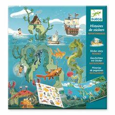 Акция на Набор для творчества DJECO Приключения в море с перемещаемыми наклейками (DJ08953) от Будинок іграшок
