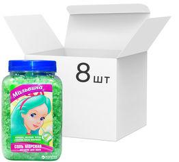 Акция на Упаковка морской соли для ванн Bioton Cosmetics Мальвина 750 г х 8 шт (4820026152936) от Rozetka