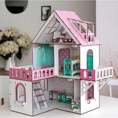 """Акция на Ляльковий будиночок Rimos """"МІНІ КОТЕДЖ З БАЛКОНОМ"""" для ляльок LOL (ЛОЛ), 5 кімнат (поверх 20см), без меблів, рожевий (ZKD002_2) от Allo UA"""