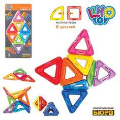 """Акция на Магнитный детский конструктор Limo Toy """"Треугольник"""" в 3д формате от Allo UA"""