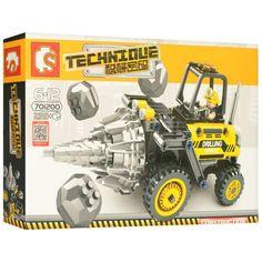 """Акция на Детский конструктор машинка от METR+ """"Трактор"""" для мальчиков 235 деталей от Allo UA"""