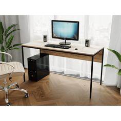 Акция на Компьютерный стол Rimos 1400х750х700 мм TOR черный ЛДСП Дуб Сонома 16мм (Z-25_B_D) от Allo UA