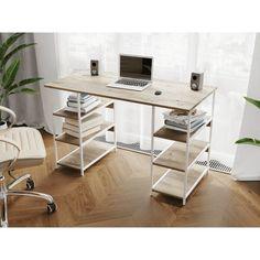 Акция на Компьютерный стол Rimos 1000х750х600 мм ARES белый ЛДСП Аликанте 16мм (Z-21_B_Al) от Allo UA