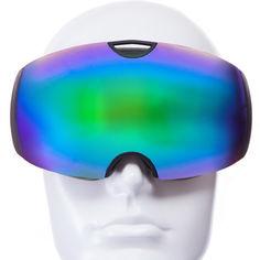 Акция на Лыжная маска SPOSUNE (панорамная) HX036 (черный-салатовый) (900015625) от Allo UA