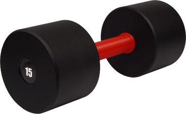 Акция на Гантель цельная Champion 15 кг с полимерной накладкой на грифе (CHM00416-15) от Rozetka