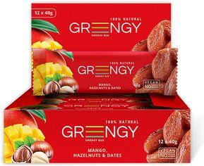Акция на Упаковка батончиков Greengy Финики, манго и фундук 12 шт х 40 г (4820221320536) от Rozetka