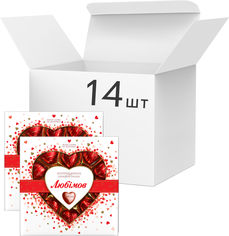 Акция на Упаковка конфет Любимов Сердечки в молочном шоколаде 125 г х 14 шт (4820005195152) от Rozetka