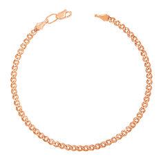 Акция на Золотой браслет с алмазной гранью, 3мм 000095129 16.5 размера от Zlato