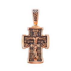 Акция на Православный крестик из красного золота с чернением 000132166 от Zlato