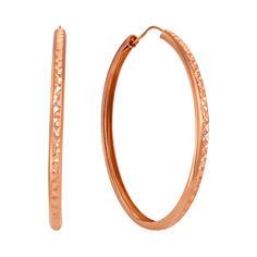 Акция на Серьги-кольца из красного золота, 45мм 000101668 от Zlato