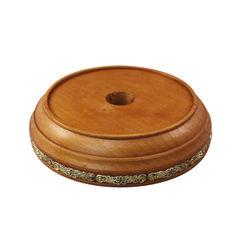 Акция на Круглая деревянная подставка под колокольчик с узорами, d 120mm 000100979 от Zlato