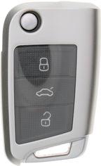 Акция на Чехол для автоключа LaManche Volkswagen / Skoda / Seat Silver (VW-B02T_slv) от Rozetka
