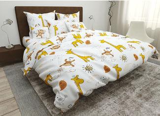 Акция на Комплект постельного белья в кроватку Giraffes SoundSleep бязь Детский комплект от Podushka