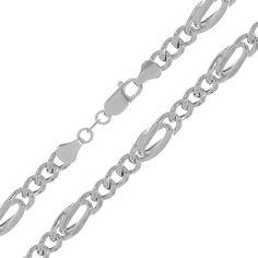 Акция на Серебряная цепь с родированием, 5 мм 000072072 55 размера от Zlato
