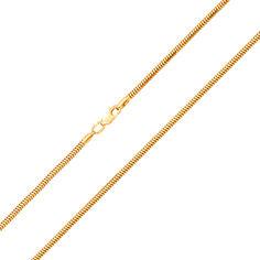 Акция на Цепочка из желтого золота в плетении круглый снейк, 1,5мм 000050549 45 размера от Zlato