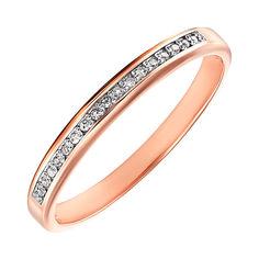 Акция на Золотое обручальное кольцо с бриллиантами 000117456 19 размера от Zlato