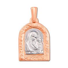 Акция на Золотая ладанка Святая Богородица в комбинированном цвете  000119551 от Zlato