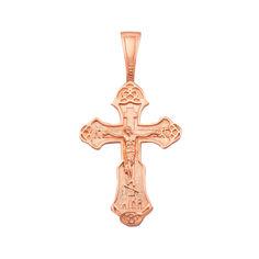 Акция на Крестик Спаситель в красном золоте от Zlato