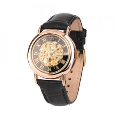 Акция на Часы из красного золота с механизмом скелетон 000127223 от Zlato